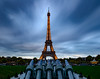 Dark Clouds... (Aleem Yousaf) Tags: eiffel tower overcast dark clouds sky wrought iron structure chapm de mars paris france gustave architecture cultural historic landmark tall nikon d800 1835mm neutral density filter wideangle lee long exposure outdoor