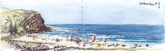 Copacabana Beach (panda1.grafix) Tags: copacabana macmastersbeach seascape landscape sketch