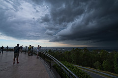 Storm does poor job of sneaking up on Brisbane (noompty) Tags: mtcoottha brisbane queensland storm clouds people on1pics photoraw pentax k1 wideangle hddfa1530mmf28edsdmwr