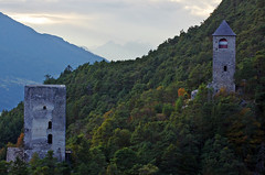 Ancient towers (pentars) Tags: castle ancient ruin tower mountains hill alps alpine autumn forest austria nature landscape old view scenery pentax k5ii sigma100300f4 sigma 100300