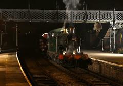 Great Western 56xx class No. 5619 (Andrew Edkins) Tags: 5619 56xxclass swanwickjunction station railwayphotography night winter greatwestern gwr canon 30742photocharter steamtrain uksteam midlandrilwaycentre derbyshire geotagged milktrain semaphoresignals