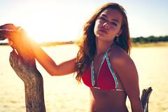 Missing the summer (jpben photography) Tags: girl woman adult bikini sexy cute sand beach dunes forrest sunset warm gorgeous shoot nikon d800 sigma50mmf14art tree portrait sitting portfolio naturallight model