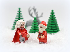 Missing...... (MinifigNick) Tags: santa mrs claus mrsclaus snow reindeer fatherchristmas holidays xmas afol lego