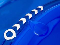 Open this way (marina_felix) Tags: macromondays macro arrow blue silver pointing opening