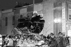 St. Nick Visits Cedar Rapids (LostOne1000) Tags: night fireandice christmaslights blackwhite iowa parade elves cold cedarrapids santaclaus stnicholas stnick elfs unitedstates christmas city downtown us holidaydelightparade