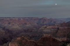 Moon Rise Over the Cold, Dark, Grand Canyon (Antoine Grelin) Tags: grand canyon canon 7dmii
