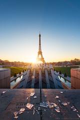 trocadro sous la glace (Paris) (www.thierryfaula.com www.thierryfaula.com www.thie) Tags: trocadro trocadero paris sunset sunrise dri faula d800 nikon bleu blue ciel tour toure eiffel glace froid