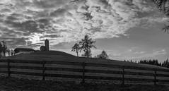 Chapel on the hill (El.buitre) Tags: a6000 sigma30 14 bw blackwhite schwarzweis sw landscape landschaft sky himmel clouds wolken church kirch chapel kapelle hill hgel