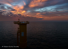 The start of a new day (Askjell's Photo) Tags: belgium blighbank northsea offshore scenery volantis windturbine windmill windpower askjell