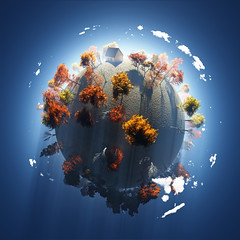 autumn on small planet (thanson198) Tags: fall autumn aerial earth globe planet tree yellow 3d view air atmosphere bare blue clouds country day environment fantasy foliage forest garden global home house land leaf nature plant seasons sky small space sphere spherical travel ukraine
