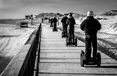 the race is on ;-) (claudia.kiel) Tags: deutschland germany schleswigholstein stpeterording spo nordsee northsea ording strand beach segway sport sw blackwhite monochrome einfarbig