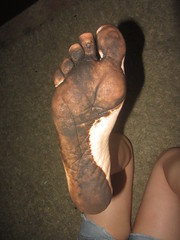 IMG_0005 (Elizabeth Townsend) Tags: dirty feet soles filthy black gre oily female