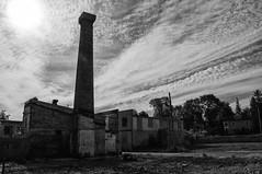 DSC_1950-Edit-Edit.jpg (Mark Heine Photos) Tags: sky blackandwhite ontario canada clouds ruins factory furniture childrens elora littlefolks markheine