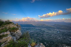 Sunset on Belledonne Mountain - Grenoble (L'Empreinte Photographie - URBEX) Tags: sunset grenoble de landscape soleil coucher paysage ales baptiste belledonne wwwlempreintephotographiecom