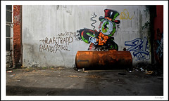 Backyard resident (frode skjold) Tags: urban oslo norway norge backyard grafitti tank urbandecay drugs joint grnland urbanphotography theresidents sppel grnlandsleiret photoshopelements10 fujifilmx20