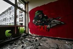 Hidden Art (debeeldenplukker) Tags: red graffiti belgium belgië canond30 graffitiart urbex graffitiwall hiddenart debeeldenplukker