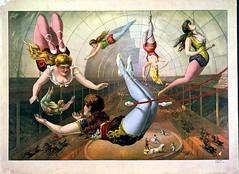 Art-Poster-Advertisement-Circus-Acrobats-1 (Onifur1) Tags: pink color art illustration circus 19thcentury advertisement entertainment american acrobat recreation