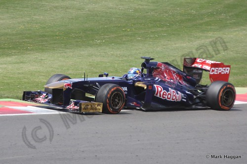 Jean-Eric Vergne in the 2013 British Grand Prix