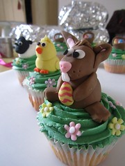 Easter Animal Cupcakes (bespoke cakes by rosie) Tags: bunny animal cake easter chick cupcake lamb sugarmodelling