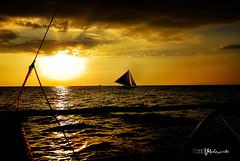 Boracay (MalNino) Tags: sunset sailboat seascapes boracay paraw