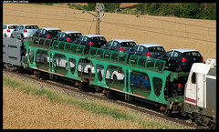 Laaes/MA de Renfe (javier-lopez) Tags: vw train volkswagen ma tren trenes railway coche coches pamplona portbou automóvil plataforma renfe vagón automóviles adif ffcc arenapo mercancías tiebas landaben portacoches laaes 6ma5 18072013