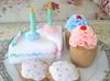 Felt Food Pastel Birthday Set (feltfakerybakery) Tags: birthday handmade etsy teaparty pretendplay playfood feltfood feltfakerybakery
