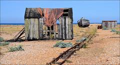 Fishing Relics (R~P~M) Tags: uk greatbritain england abandoned beach train coast boat kent fishing unitedkingdom shingle railway hut dungeness disused derelict