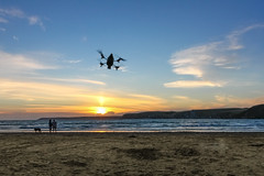 uk greatbritain sunset england beach canon fly sand awesome flight devon 7d bigbury carbonfibre bigburyonsea quadcopter ardrone quadcoppter