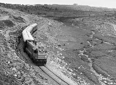 Israel Railways morning train from Jerusalem to Tel Aviv, 1971, powered by a GM 1200 horsepower diesel-electric. (Ivan S. Abrams) Tags: blackandwhite newcastle pittsburgh butler bo ge prr ble conrail alco milw emd ple 2102 chessiesystem westmorelandcounty 4070 bessemerandlakeerie steamtours pittsburghandlakeerie ivansabrams eidenau steamlocomtives ustrainsfromthe1960sand1970s