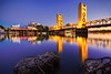 Tower Reflection (boingyman.) Tags: bridge seascape reflection towerbridge landscape rocks downtown cityscape scape americanriver boingyman