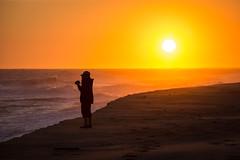 Checking Her Sunrise Picture (jeff_a_goldberg) Tags: canada novascotia parkscanada sableisland fishermansharbour sableislandnationalparkreserve