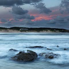 Soldiers Beach (JasonBeaven) Tags: ocean sunset sea seascape color colour print square photo rocks image australia newsouthwales centralcoast soldiersbeach
