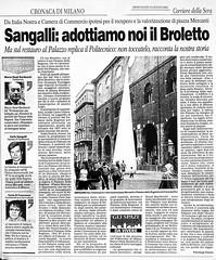 2001-CORRIERE DELLA SERA-INTERVENTO BIENNALE CITTA' DI MILANO  1994