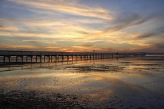 Length (pominoz) Tags: sunset reflection clouds pier jetty nsw centralcoast longjetty