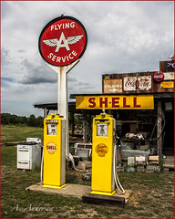 Shell Oil Co. and Flying A Service (A Anderson Photography, over 1 million views) Tags: travel canon oil flyingaservice oilindustry nikcolorefexpro countrybackroads shelloilcompany oilsigns