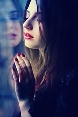 Senses (digitalpsam) Tags: reflection beautiful beauty model mood sam atmosphere muse dreamy sammatta