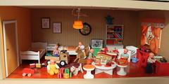 Extra storey of my 70s Lundby Gothenburg (*blythe-berlin*) Tags: orange vintage göteborg toys furniture gothenburg 70s möbel byebye spielzeug dollhouse puppenhaus lundby cacodolls biegepuppen doll´shouse 70zigerjahre