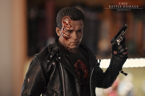 Hot Toys - 1/6 Scale - Terminator 2 DX13 T-800 Battle Damage Version