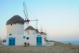 Sleeping windmilsl in Mykonos