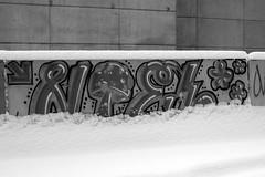 NTEL (damonabnormal) Tags: street city urban blackandwhite graffiti december tag tags tagged pa writer philly graff aerosol tagging phl urbanphotography urbanite nocolor philadlephia 2013 fujix100 phillyurbanart