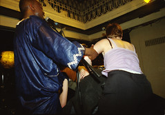 Robert Masako and Chaka Chaka Soukous from the Democratic Republic of the Congo DRC at the Africa Centre London April 2000 103 (photographer695) Tags: robert maseko from drc africa centre london 2000 masako congobeat democratic republic congo june