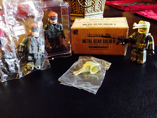Metal Gear Solid Olive Drab Kubricks x3