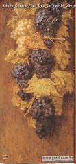 Giulio Cesare Prati Uva dei ronchi olio su legno 75x35cm 1930 Collezione privata