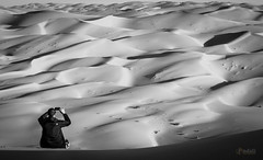 Take the Shot (Mr.D800) Tags: trip friends sunset people bw mobile sunrise shoot shadows desert dunes uae picture highlights human abudhabi liwa 2014