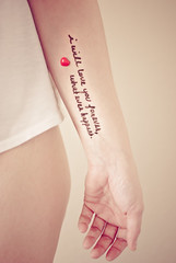 forever (~ Paige ~) Tags: red woman selfportrait love me heart quote curves hip inked piecesofme msh0114 msh011420 hisdarkplaces