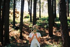 national park of Corsica (.nevara) Tags: park light portrait people brown sun tree green film girl analog forest person shadows hand kodak walk nation grain blonde faceless mentol