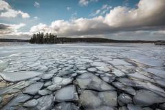 Break Up (bluegreenorange) Tags: canada ice water clouds day novascotia cloudy ns shadbay iceflow