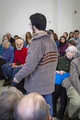 20140202__MG_4851_Yarn_To_Garment (Pat Kilkenny) Tags: ohio color wool fashion yarn fabric weaving weave oberlin garment 2014 oberlincollege 13thannual betsybruce yarntogarment