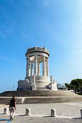 Monumento ai caduti, Ancona (MikePScott) Tags: camera sky italy monument clouds lens italia columns steps marche ancona lemarche builtenvironment architecturalfeatures nikon2470mmf28 nikond800 featureslandmarks