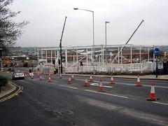 Rotherham Tesco Construction Feb 17th 2014 (39) (Chris.,) Tags: england construction tesco cranes rotherham southyorkshire steelwork